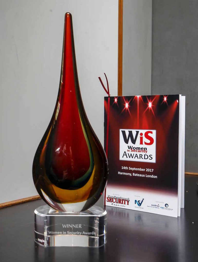 Women in Security Awards 2017 Trophy