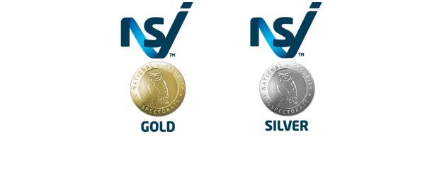 NSI Gold and Silver Medals - Signifying a companies approval with NSI