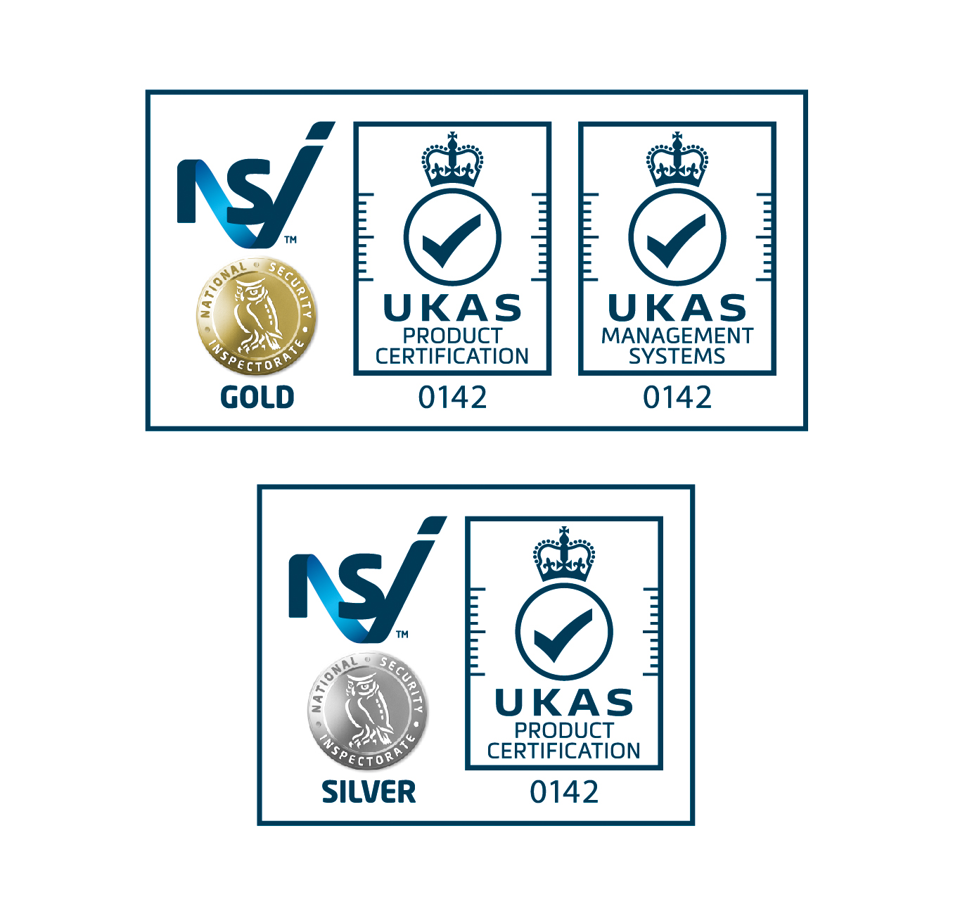 NSI Gold and Silver UKAS accreditations